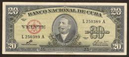 CUBA. 20 pesos 1960. Sign. Che Guevara