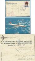 AEREO DOUGLES DC-8 SWISSAIR - ZAGABRIA - ZAGREB - ANNULLI SPECIALI MANIFESTAZIONI POSTA AEREA - 1946-....: Moderne