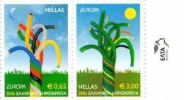 PIA  -  GRECIA  - 2006 : EUROPA   Da Carnet -   (Yv 2332-33) - 2006