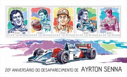 gb14103a Guinea Bissau 2014 Sport Formula 1 Car Ayrton Senna s/s