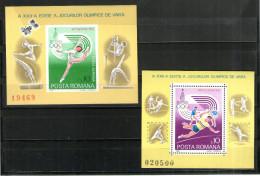 7109 - Rumänien Romana Block 171,172 Postfrisch Moskau 1980 Olympiade - Roumanie