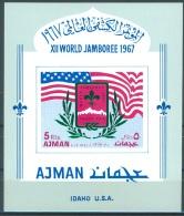 AJMAN - 1967 - MNH/*** - SCOUT JAMBOREE IDAHO  - Mi BLOCK 15 B X  -  Lot 9992 - Adschman