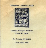 RARE ENTETE BOIVIN EDITEURS ANCIENNE LIBRAIRIE FURNE 1940 B.E. V.HISTORIQUE - 1900 – 1949
