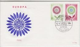 Europa Cept 1964 Belgium 2v FDC  (12973) - Europa-CEPT