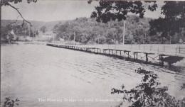 Floating Bridge, Lake Bomoseen, Luther's Cabins, HUBBARDTON, Vermont, 40-60's - Non Classificati