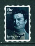 IRELAND  -  2014  Brendan Behan  60c  Used As Scan - 1949-... Republic Of Ireland