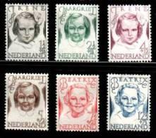 NEDERLAND 1946 MNH Stamp(s) Princesses 462-467 #025 - Period 1891-1948 (Wilhelmina)