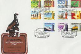 ZIMBABWE 1985 FDC Definitives (2 Env) 309-330 F702A+B - Zimbabwe (1980-...)