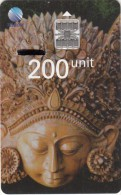INDONESIA(chip) - Bali Culture 3, Telkom Telecard 200 Units, Tirage 10000, 03/97, Used - Indonesien