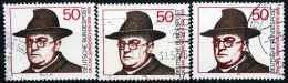 BOX04-18) BRD - 3x Michel 892 - OO Gestempelt - Carl Sonnenschein - Gebruikt