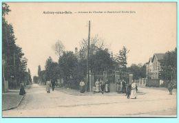 CPA - Aulnay-sous-Bois (93) - Avenue Du Clocher Et Boulevard Emile-Zola - Aulnay Sous Bois