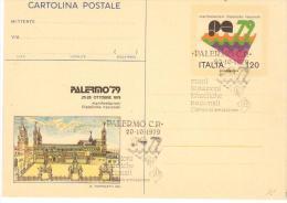EB 1222 - CARTOLINE POSTALI - REPUBBLICA ITALIANA - PALERMO 1979 - ANNULLO SPECIALE - 6. 1946-.. Repubblica