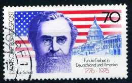 BRD - Michel 895 - OO Gestempelt (B) - 200 Jahre Unabhängigkeit USA - Gebruikt