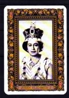 Carte De Jeu Reine ELIZABETH II D'Angleterre - Oude Documenten