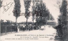 (33) Bordeaux - Course Paris Madrid - L'arrivée De Gabriel à BORDEAUX - Voiture Morse - TBE Excellent état - France