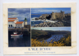 Ile D´Yeu--Merveille De L´Atlantique--Port-Joinvi Lle,Vieux Chateau Et Port De La Meule,cpm N° 1062 éd Jack - Ile D'Yeu
