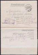 4609. WWII, Germany, 1943, POW ( Prisoner Of War ) Mail, Camp Stalag II-D, Prisoner Number 70702 - Lettres & Documents