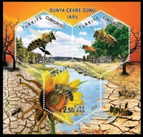 (4111-13) TURKEY WORLD ENVIRONMENT DAY BEE SOUVENIR SHEET MNH ** - Neufs