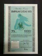 EMPRUNT D´ETAT 1973 - Actions & Titres