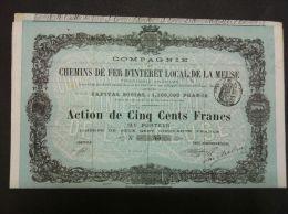 COMPAGNIE CHEMINS DE FER D´INTERET LOCAL DE LA MEUSE - Actions & Titres