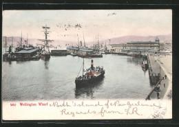 CPA Wellington, Wharf, Bateau à Vapeur, Segelschiff - Australia