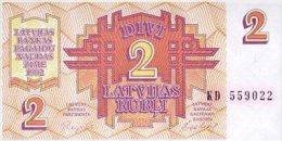 Latvia 2 Rublis  1992  Pick 36 UNC - Latvia
