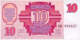 Latvia 10 Rublis  1992  Pick 38 UNC - Lettonie