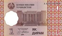 Tajikistan 1 Diram   1999  Pick 10 UNC - Tayikistán