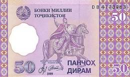 Tajikistan 50 Diram    1999  Pick 13 UNC - Tadjikistan