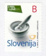 2255/ Slowenien Slovenia 2014 Mi.No. 1049 ** MNH Stone Karst Mortar Steinmörser I Feel Love Selbstklebend  Self-adhesive - Slowenien