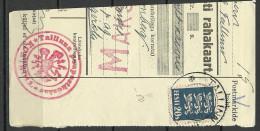 Estland Estonia Estonie 1935 Cut Out Cancel Tallinn + AEGVIIDU + TALLINN Peapostkontor KONTROLL - Estonie