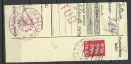 Estland Estonia Estonie 1935 Cut Out  Cancel ABJA KONTROLL + Viljandi ( Fellin ) - Estonie