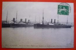 CPA Le Havre Bassin De L Eure Station Des Steamers De La Compagnie Generale Transatlantique - Hafen