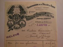 T219 / Facture Fromagerie JOSEPH LEPETIT - Bretteville Sur Dives - ST PIERRE SUR DIVES - Calvados - Invoices