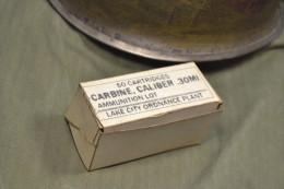 Copie Patinée De Paquet De 50 Cartouches De 30 M1 Pour Carabine USM1 US M1 - 1939-45