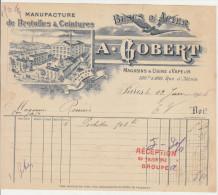 Paris, Bretelles Et Ceintures, Buscs D´acier A. Gobert 1906 (voir Description) - Textile & Vestimentaire