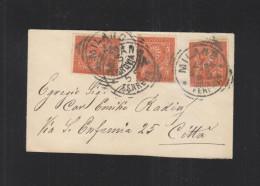Lettera Milano Citta - 1878-00 Humbert I.