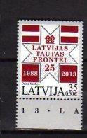2013 Latvia / Lettland - 25 Years Of Latvian Folk Front Organisation - 1v  - Paper MNH** - Lettland