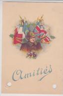 Amitiés France-GB - Soldat Casqué Casque - CPFM 1939 - !!! Trous D'archivage - Marcofilia (sobres)
