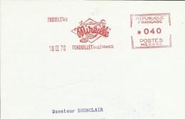 Lettre Flamme EMA MG Saucisson Mireille  Alimentation1970 Theme 31 Fenouillet  A 30/18 - Alimentation