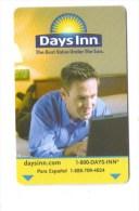 Carte Magnetique De Chambre  Hôtel DAYS INN   Key Pass. Passe.The Best Value Under The Sun    (USA ) - Hotelkarten