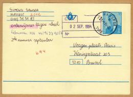 Carte Entier Postal Hasselt à Brussel - Postwaardestukken