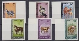 Mauretanie Animals 6v ** Mnh IMPERFORATED (12999) - Mauritanië (1960-...)