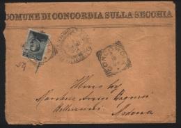 1905  LETTERA CON ANNULLO CONCORDIA SULLA SECCHIA BOLOGNA - 1900-44 Vittorio Emanuele III