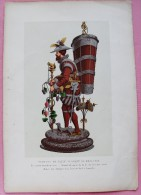 LITHOGRAPHIE THEME LA VIGNE REPRESENTANT 1 SURTOUT DE TABLE SERVANT DE DRAGEOIR - Other Collections