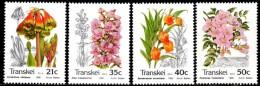 Transkei - 1990 Indigenous Flora Set (**) # SG 257-260 , Mi 259-262 - Transkei