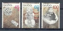 Mkc0080 ARCHEOLOGIE ROTSSCHILDERING KRUIK BEELDJE ARCHEOLOGISCHE VONDSTEN ARCHEOLOGY ARUBA 1990 PF/MNH - Archeologie