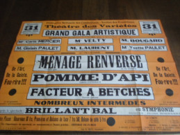 Marche-lez-Ecaussines, Théâtre Des Variétés. - Affiches