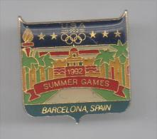 PINS PIN'S JO 92  JEUX OLYMPIQUES BARCELONA BARCELONE 26 X 25 MMS - Olympic Games