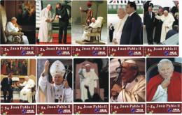 R01220 China Phone Cards Pope John Paul II 30pcs - Télécartes
